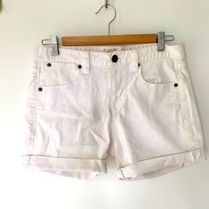 White Denim J. Crew Shorts